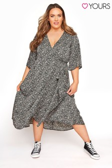 Yours Paisley Floral Wrap Dress