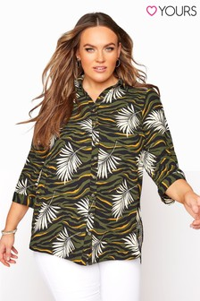 Yours 3/4 Sleeve Longline Shirt Tropical