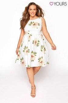 Yours Sleeveless Skater Dress Floral