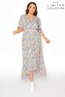Yours Limited Hanky Hem Midi Dress  Floral