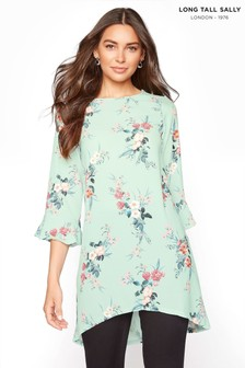 Long Tall Sally Floral Fluted Sleeve Tunic