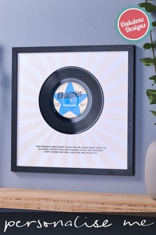 Personalised Real Record Vinyl Print by Oakdene