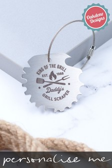 Personalised Metal BBQ Scraper by Oakdene