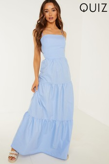 Quiz Strappy Tiered Maxi Dress