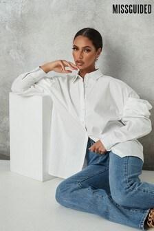 Missguided Oversized Poplin Volume Sleeve Shirt
