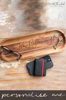 Personalised Wooden Concierge Tray by Oh So Cherished
