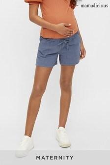 Mamalicious Maternity Over The Bump Woven Shorts