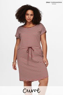 Only Carmakoma Curve Jersey Printed T-Shirt Dress