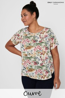 Only Carmakoma Curve Woven T-Shirt