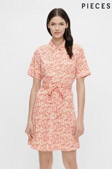 Pieces Ditsy Print Shirt Dress