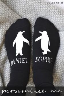 Personalised Penguin Socks by Solesmith
