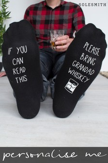 Personalised Please Bring Whiskey Socks by Solesmith