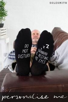 Personalised Grandad Resting Eyes Socks by Solesmith