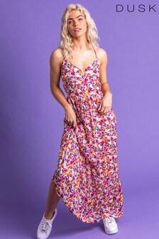 Dusk Floral Cross Back Maxi Dress