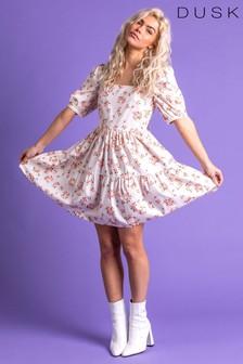 Dusk Tiered Rose Print Dress