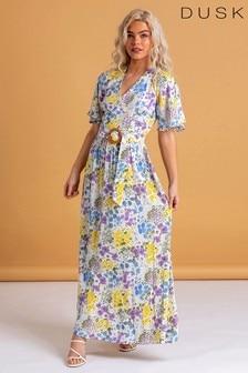 Dusk Floral Belted Maxi Dress