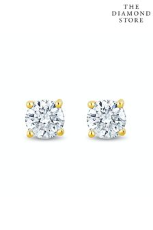 The Diamond Store Lab Diamond Stud Earrings 0.20ct H/Si Quality in 9K Gold - 3mm