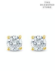 The Diamond Store Lab Diamond Stud Earrings 0.30ct H/Si Quality in 9K Gold - 3.6mm