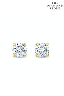 The Diamond Store Lab Diamond Stud Earrings 0.10ct H/Si Quality in 9K Gold - 2.4mm