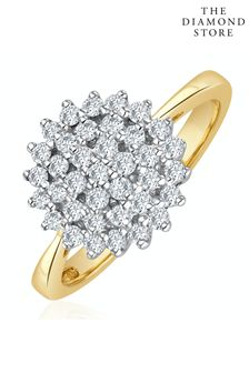 The Diamond Store 9K Gold Diamond Cluster Ring 0.50ct