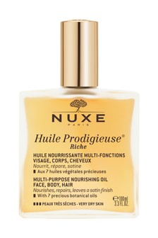 Nuxe Huile Prodigieuse® Riche Multi-Purpose Dry Oil for Face, Body and Hair 100ml