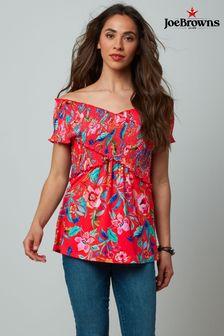 Joe Browns Floral Print Shirred Top