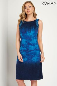 Roman Tie Dye Print Shift Dress
