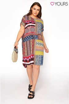 Yours Multi Patchwork Tunic Dress