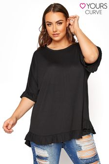 Yours Limited Boxy Frill T-Shirt