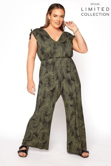 Yours Limited Tropical Print Jumpsuit