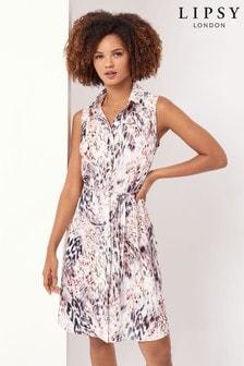 Lipsy Sleeveless Shirt Dress