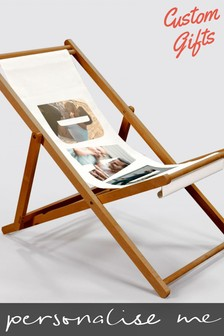 Personalised Photo Upload Deck Chair by Custom Gifts