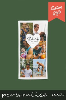 Personalised Photo Upload Beach Towel by Custom Gifts