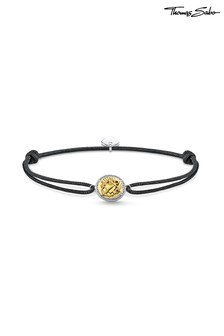 Thomas Sabo Sterling Silver and Gold Faith, Love  Hope Coin Bracelet