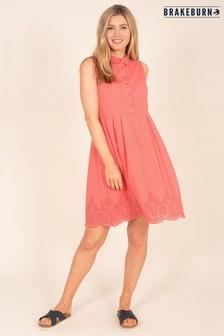 Brakeburn Broderie Shirt Dress