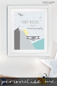 Personalised Nursery Print by Jonny's Sister