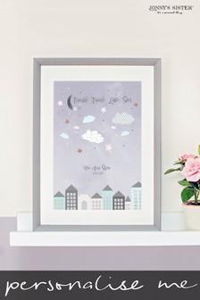 Personalised Star Nursery Print  by Jonny's Sister