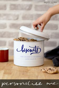 Personalised Airtight Biscuit Tin