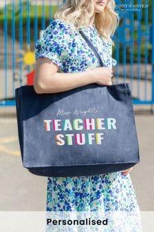 Personalised 'Teacher Stuff' Bag by Jonny's Sister