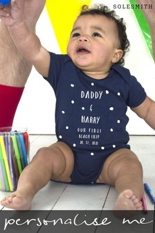 Personalised Special Date Babygrow by Solesmith