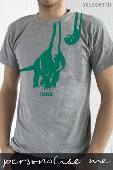 Personalised Textured Dinosaur TShirt by Solesmith