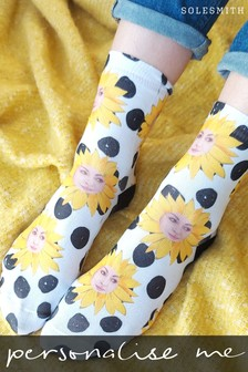 Personalised Sunflower Photo Socks by Solesmith