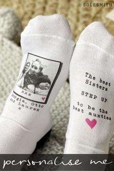 Personalised Best Sister Best Auntie Photo Socks by Solesmith
