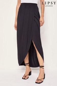 Lipsy Jersey Wrap Maxi Skirt
