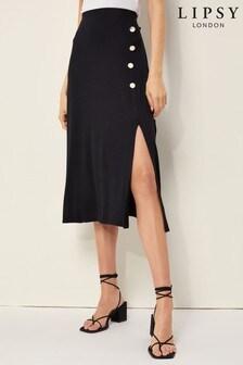 Lipsy Button Midi Skirt