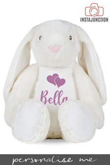 Personalised Bunny Name and Icon Cuddly Toy by Instajunction