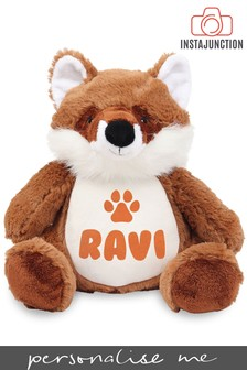Personalised Fox Name and Icon Cuddly Toy by Instajunction