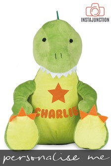 Personalised Dinosaur Name and Icon Cuddly Toy by Instajunction