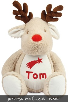 Personalised Reindeer Name and Icon Cuddly Toy