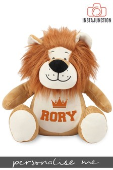Personalised Lion Name and Icon Cuddly Toy